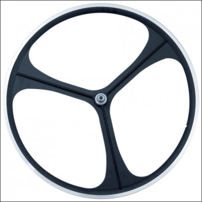3 Spoke Wheel black