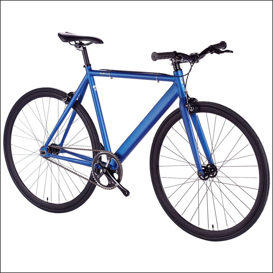 6ku track fixie bikes navy the bike messenger. Black Bedroom Furniture Sets. Home Design Ideas