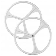 3 Spoke Wheelset white