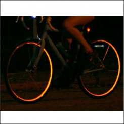 Reflective wheel striping