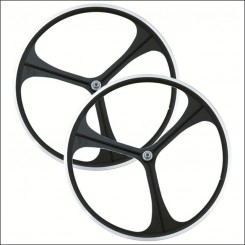 3 Spoke Wheelset black
