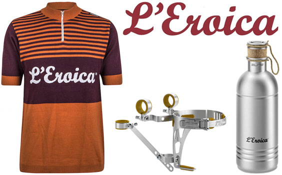 Eroica Shirts, Water Bottle and Bottle Holder